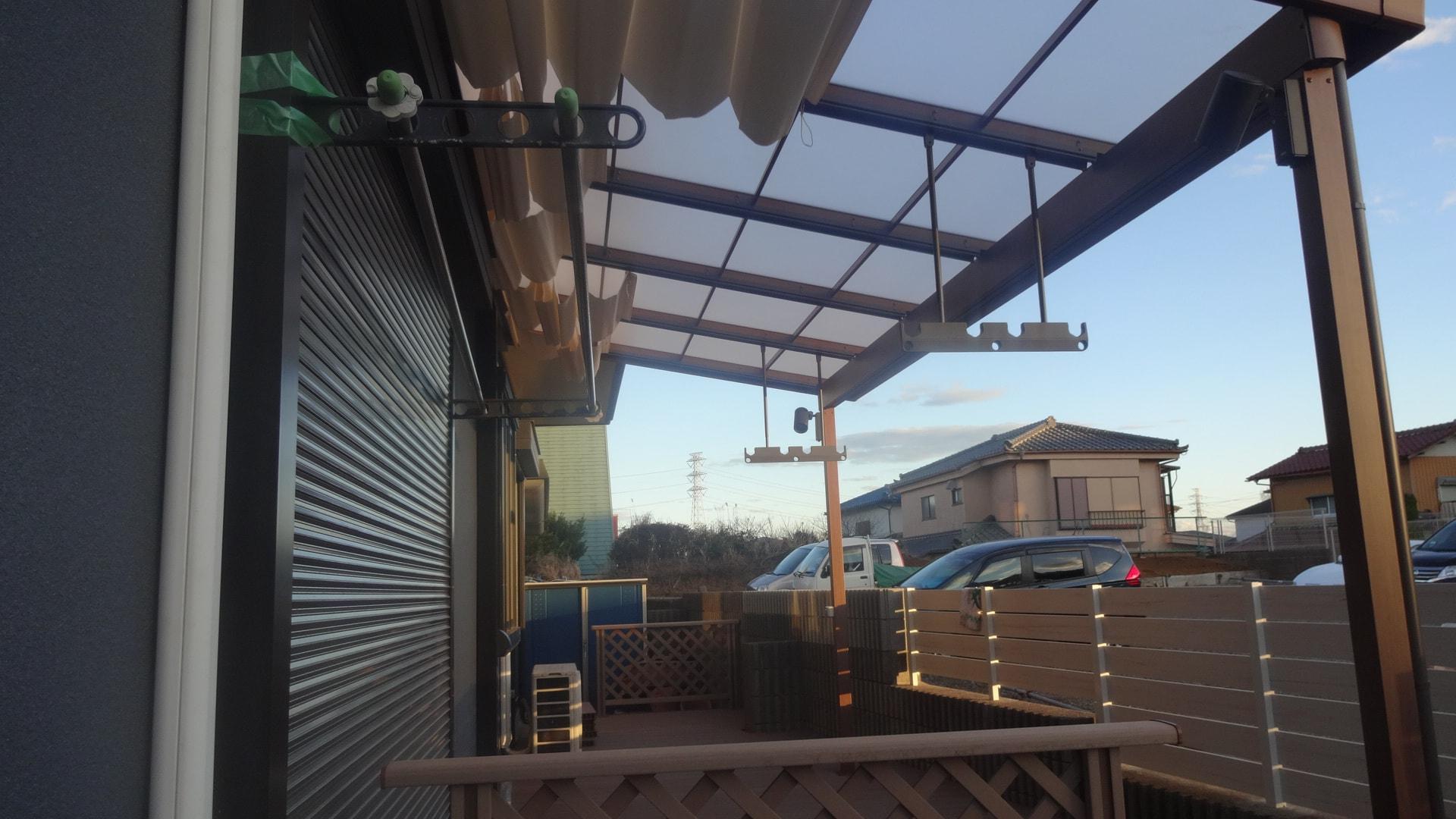 ウッドデッキとフェンスの新設